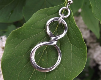 Endless Loops - Infinity Earrings, Silver Earrings