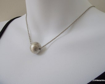 Silver Stardust Necklace, Silver Necklace