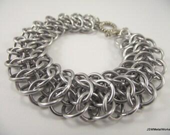 Interwoven 4-1 Aluminum Bracelet, Chainmail Bracelet