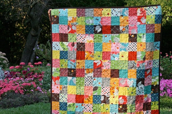a flea market fancy patchwork baby quilt
