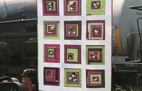 baby birds and butterflies quilt