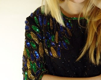 Vintage Sequins and Beads Top