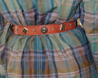 Vintage Genuine Leather Belt S