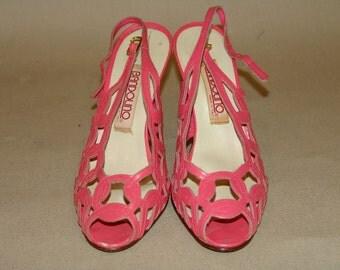Vintage Bandolino Pink Leather Heels ..... Size: 6.5