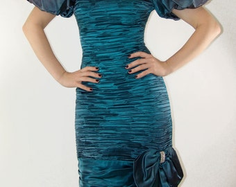 Vintage Party DRESS, Custom Tailored, 1980s