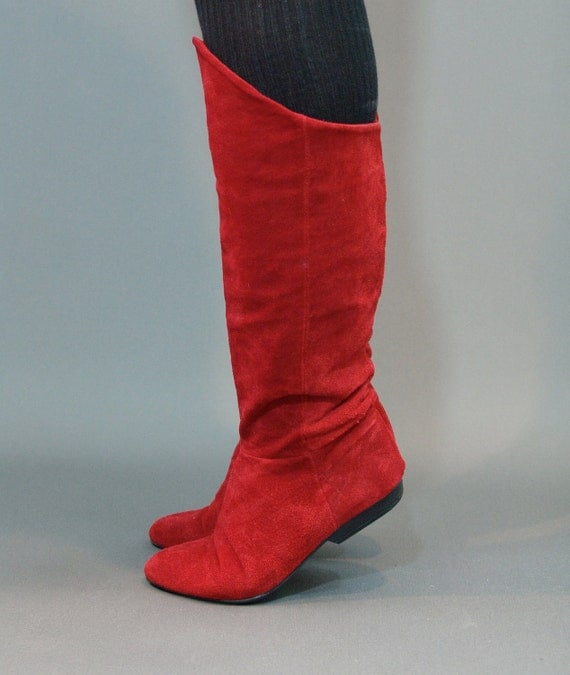 Creative Premium Red Suede Fur Snow Winter Womens Short Boots | EBay