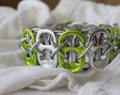 Lime Soda Cap Cuff Bracelet