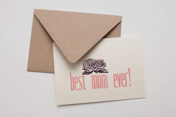 Best Mom Ever - Letterpress Mother's Day Card