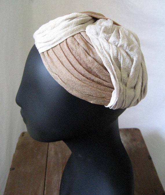 Vintage 40s turban hat by Janet Martin, Chattanooga