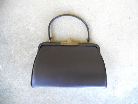 CLOSING SALE Vintage Vendi brown vinyl purse vegan
