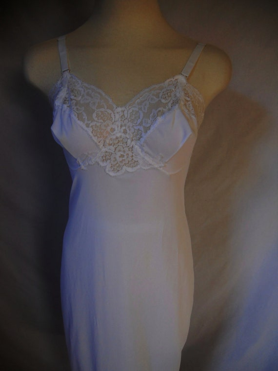 CLOSING SALE Vintage Harvey Woods white nylon slip