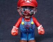Zombie Mario OOAK nintendo Figure Arms Move