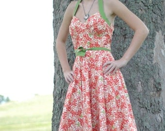 Vintage inspired 1950s Cotton Dress