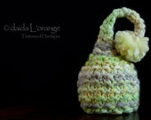 OOAK Newborn Ruffle Waves Pixie Elf Hat - Lemongrass - Spring Collection