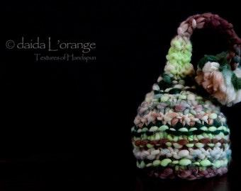 OOAK Newborn Ruffle Waves Pixie Elf Hat - An Irish Forest - Autumn Collection