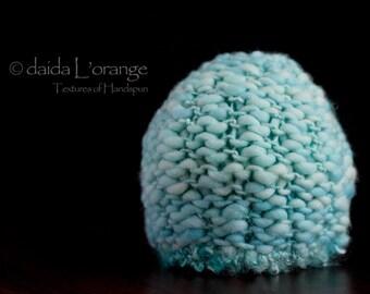 OOAK Luxe Newborn Textured  Beanie Hat - Aqua Seas - Winter Collection