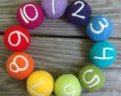 Reserved forJessica-Needle Felted Toy Counting Balls
