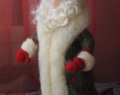 Needle felted Santa Claus-Waldorf  standing doll-soft sculpture-needle felt by Daria Lvovsky-Made to custom order