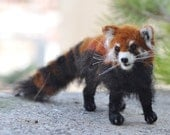 Needle Felted  Animal.  Red Panda.