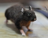 Needle Felted Wool Animals-Waldorf  Halloween Decoration-Rat-needle felt by Daria Lvovsky