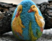 Needle felted Easter eggs-Duckling