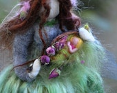 Needle Felted Spring  Blessing Rose Fairy---Waldorf inspired