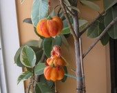 Needle Felted Mobile Waldorf -Halloween Decoration- Mobile-Autumn Pumpkins with a little  fairy-needle felt by Daria Lvovsky-Made to order