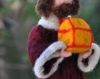 Needle felted-Nativity Set-Nativity-Waldorf-  Wise men-Magineedle felt by Daria Lvovsky-For custom orders