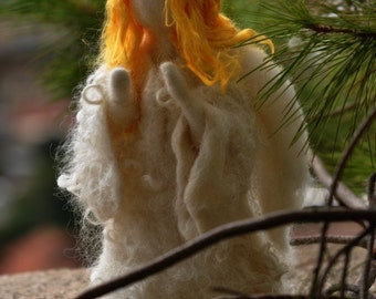 Needle felted-Nativity Set-Nativity-Waldorf  Angel-wool soft sculpture needle felt by Daria Lvovsky--For custom orders