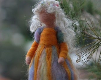 Needle felted  Waldorf-Summer Maiden-Soft sculpture-standing doll--needle felt by Daria LvovskyMade to custom orders