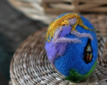 Needle felted Easter eggs-Little fairy