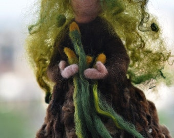 Needle felted Waldorf  Forward Spring Maiden.Made to custom order