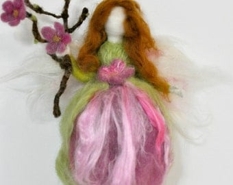 Needle felted Waldorf  Spring Fairy /Soft sculpture/ needle felt by Daria Lvovsky- Made to order