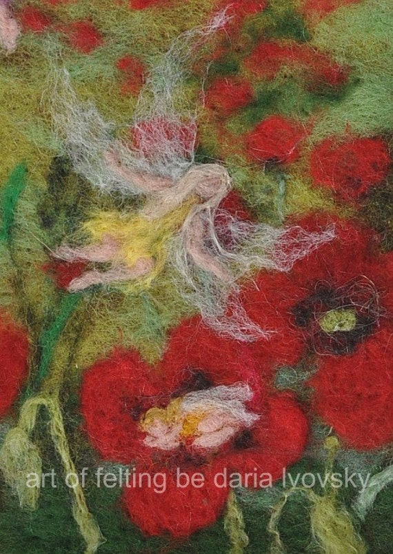 Needle felted Waldorf  Wool picture-needle felt by Daria Lvovsky