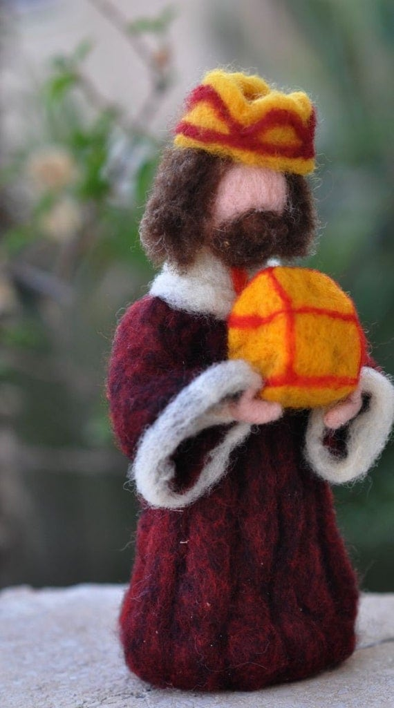 Needle felted-Nativity Set-Nativity-Waldorf-  Wise men-Magineedle felt by Daria Lvovsky-For custom orders