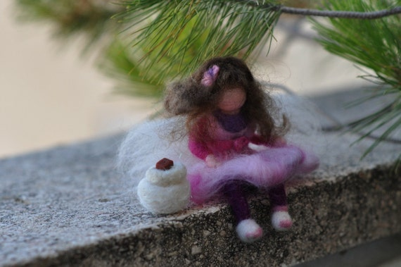 Needle felted Waldorf Tooth fairy -  Soft Sculpture--needle felt by Daria Lvovskymade to custom order