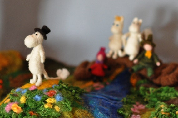 Needle felted Waldorf-Tove Janssen Moomin House-playgroung--needle felt by Daria Lvovsky- Reserved for Alessandra