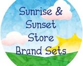 Sunrise Sunset Store Branding Set