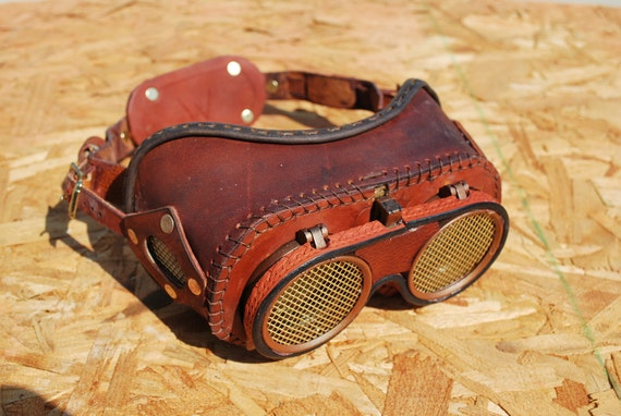 My Evil Scientist goggles for your Mad Scientist, Steampunk, Roleplay, Dr Horrible