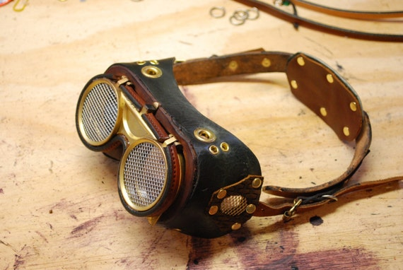 My Evil Scientist goggles for your Mad Scientist, Steampunk, Roleplay,  Dr Horrible needs
