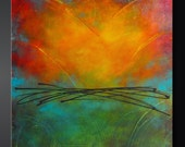 Daydream - Abstract Acrylic Original Painting on Canvas - 24x24 - Highly Textured - Contemporary Wall Art