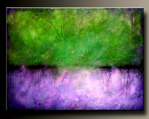 On Sale - Purple Passion - 30 x 40 - Acrylic Abstract Painting - Large - Highly Textured- Contemporary Origingal Wall Art