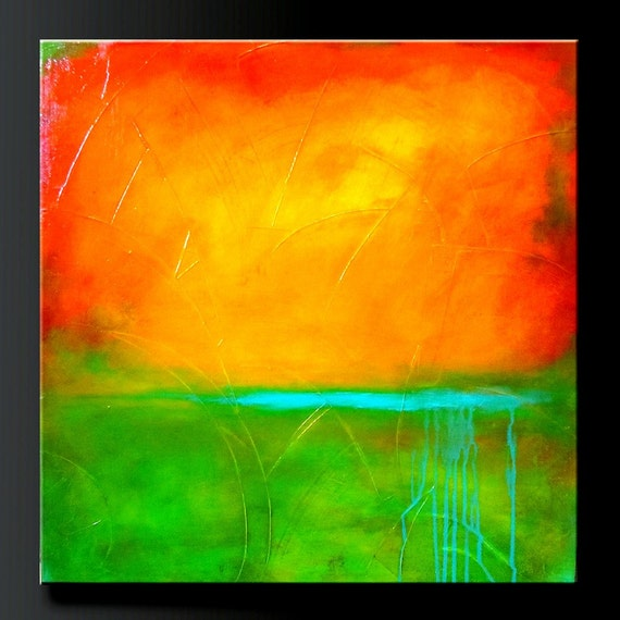 Mandarin - 24 x 24 - Acrylic Abstract Painting - Highly Textured