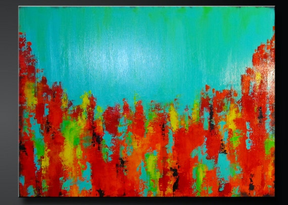Carousel 10 - 30 x 40 - Abstract Acrylic Original Painting on Canvas - Contemporary Wall Art
