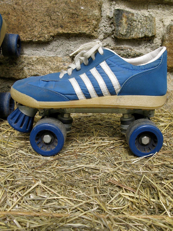 Roller Skate Sneakers >> Vintage 70s Adidas Nash Cruisers Roller Skates roller derby