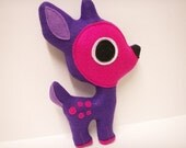 Penelope the Purple Felt Deer Plush Doll