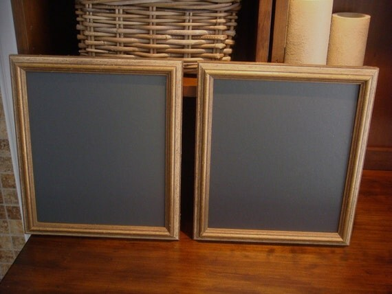 Chalkboard Set, (Antique Gold) Wedding, Bridal, Restaurant, Home (11 x 13 inches