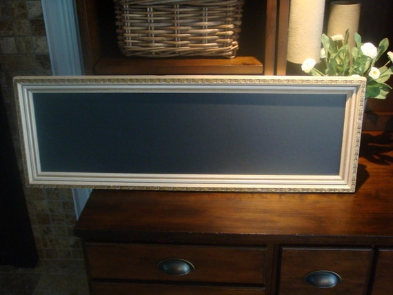 Chalkboard, Unique, Long Narrow Frame (10 x 29 1/2 inches)