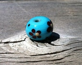 Blue and Red Flower Bead set of 5