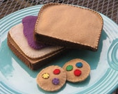 Felted Lunch Combo - PBJ & cookies or carrots - READY to SHIP